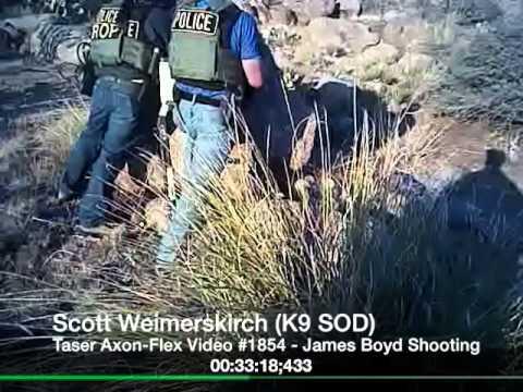 Ofcr Scott Weimerskirch (K9 SOD), APD, Taser AXON-FLEX Video, James Boyd Shooting