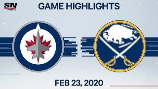 NHL Highlights | Jets vs. Sabres - Feb. 23, 2020