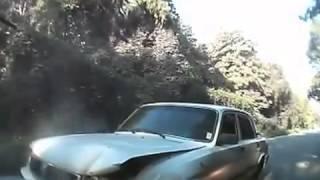 ДТП АВАРИЯ Авто авария на повороте Волги и Renault Logan Лобовое столкновение автомобилей  СТРАШНОЕ
