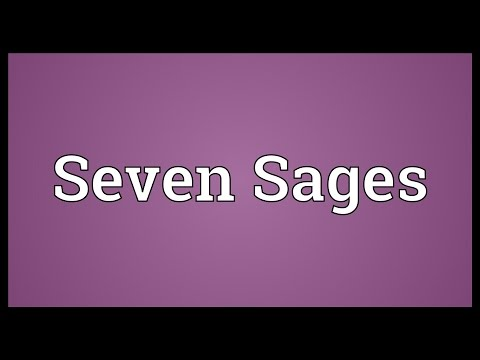 Seven Sages Meaning