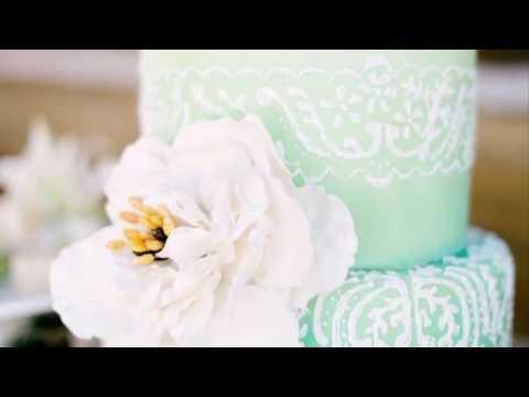 Торты на свадьбу в стиле Тиффани