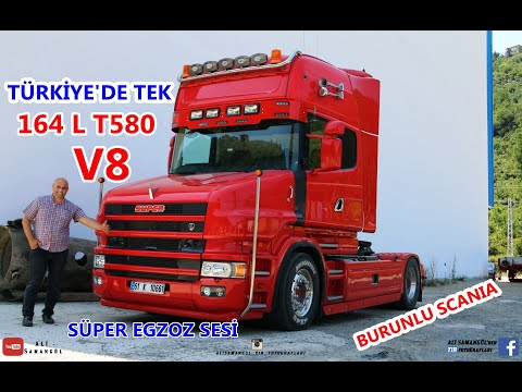 BURUNLU SCANIA / 164 L T580 V8 / TÜRKİYE'DE TEK / EGZOZ SESİ