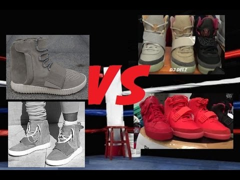 Kanye West x Adidas Yeezy Boost VS His Past Louis Vuitton & Nike Shoes With  @DjDelz