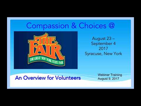 Compassion & Choices training for the 2017 NY State Fair