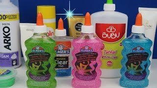 3 Renk Tutkal İle Slime Challenge! 3 Colors of Glue Slime Challenge Bidünya Oyuncak