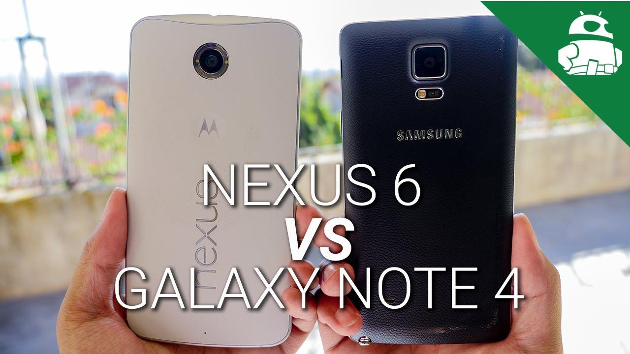Nexus 6 vs Samsung Galaxy Note 4!
