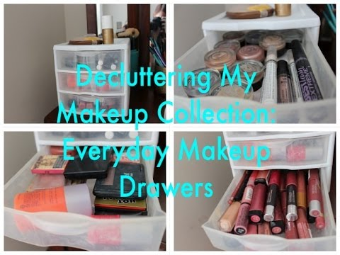 Decluttering My Makeup Collection: Everyday Makeup Drawers