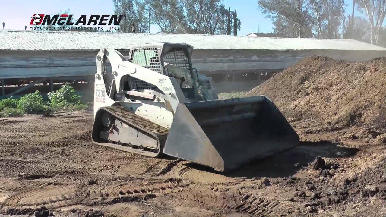 Mclaren Track Loader Tracks On Bobcat T300 Youtube