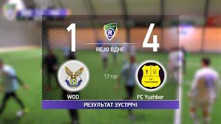 Обзор матча WOD 1 4 FC Yuzhbor Турнир по мини футболу в городе Киев