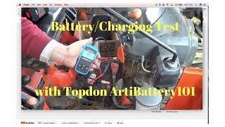 Kubota BX24 Battery/Charging Test with Topdon ArtiBattery101