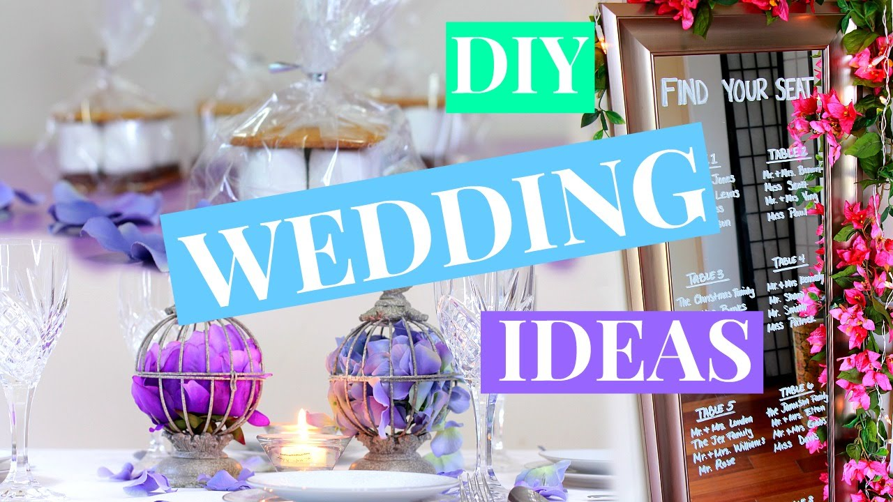 3 easy diy wedding decor ideas wedding diy nia nicole youtube junglespirit Images