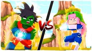 ¡Armadura de GOKU vs armadura de VEGETA! BATALLAS DE ARMADURAS en MINECRAFT (Bola de dragón)