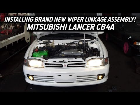 How To Replace Wiper Linkage Assembly On Mitsubishi Lancer CB4A | Brand New Mechanism Works Perfect!