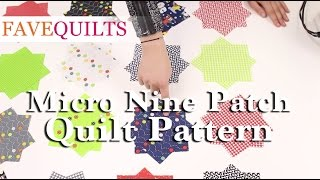 Micro Nine Patch Quilt Pattern