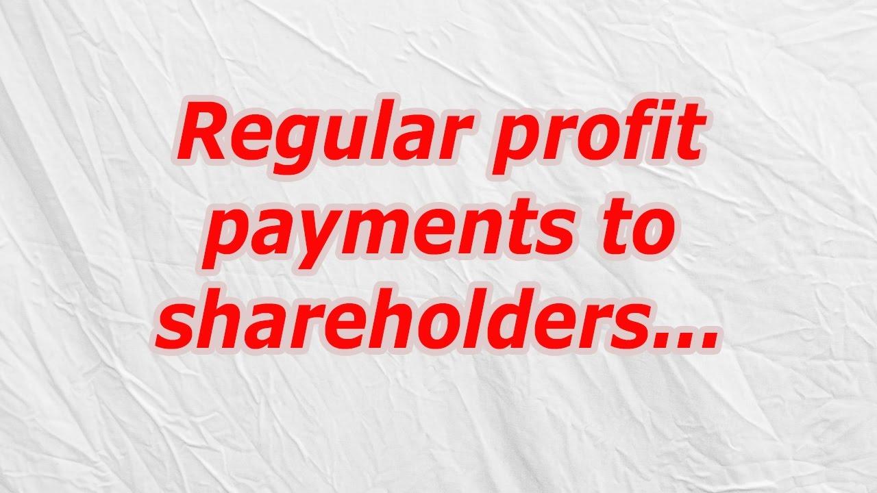 Regular profit payments to shareholders (CodyCross Crossword Answer ...