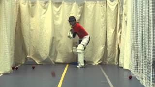 Jonathan Smith batting in pre season nets 22/02/2013