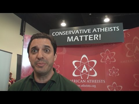 Atheist Evangelist Invades Conservative Convention!