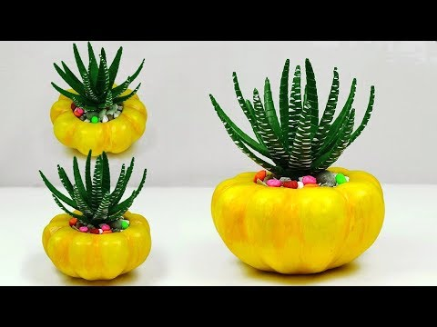 Artificial Cactus tree making with Paper // Room decoration idea //Paper Cactus Tree