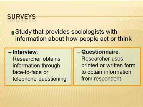 Major Research Methods
