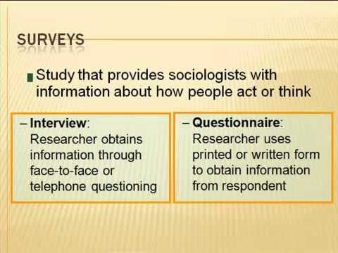 AS Sociology: Theory & Methods
