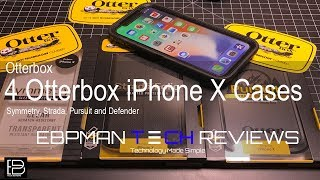 iPhone X:  4 Otterbox Cases reviewed and wireless charging tested!