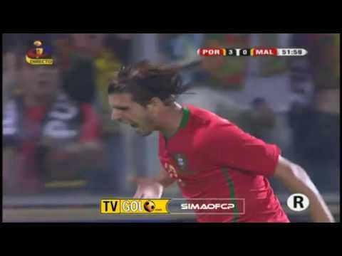 Portugal 3-0 Malta - Miguel Veloso Goal