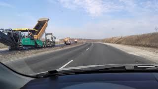 Ремонт дороги Днепр Кривой Рог Украина апрель состояние дороги 1.04.2021 в районе моста р.Базавлук