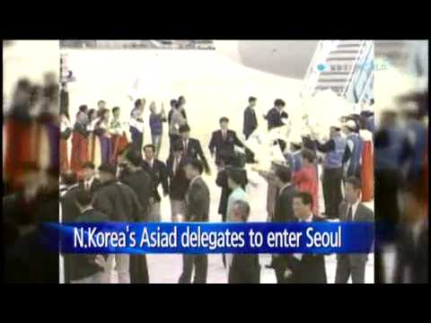 N.Korean delegates to Incheon Asian Games set to enter South / YTN