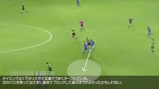 【岡崎慎司タッチ集解説】トップ下の仕事 レスターVSチェルシー.