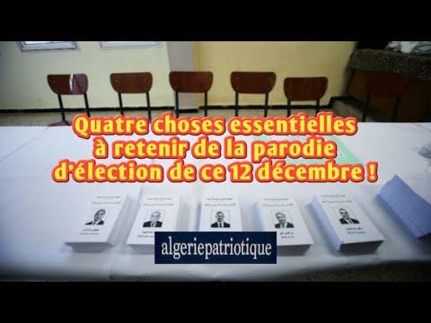 Algérie : ce qu'il faut retenir de l'élection du 12 décembre !