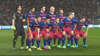 PES 2016 PS4 Gameplay - FC Barcelona Vs Real Madrid - UEFA Champions League