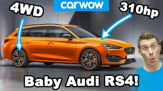 This is a baby Audi RS4... On a budget!