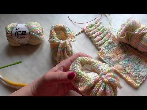 7eea7471c Škola pletení: jednoduché bačkůrky pro miminko, 1. díl - YouTube