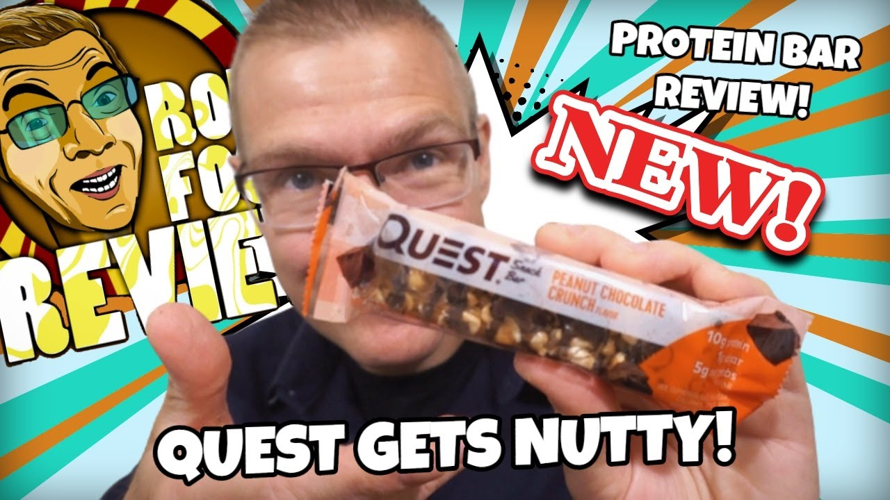 NEW!! QUEST SNACK BAR PEANUT CHOCOLATE CRUNCH!! TASTE AND REVIEW!!