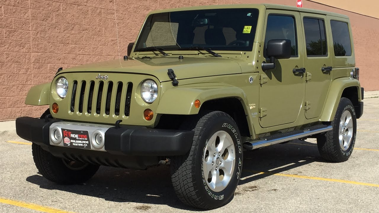 2013 jeep wrangler unlimited sahara 4wd - commando green paint