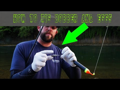 How To Rig Bobber & Eggs For Float Fishing Chinook & Coho Salmon