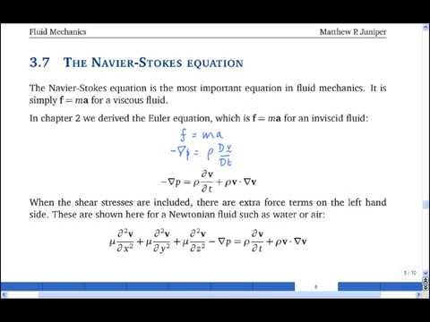 3.7 The Navier-Stokes equation