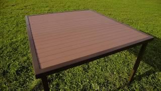 Уличный стол для дачи от BestPatio на 4 человека. Обзор