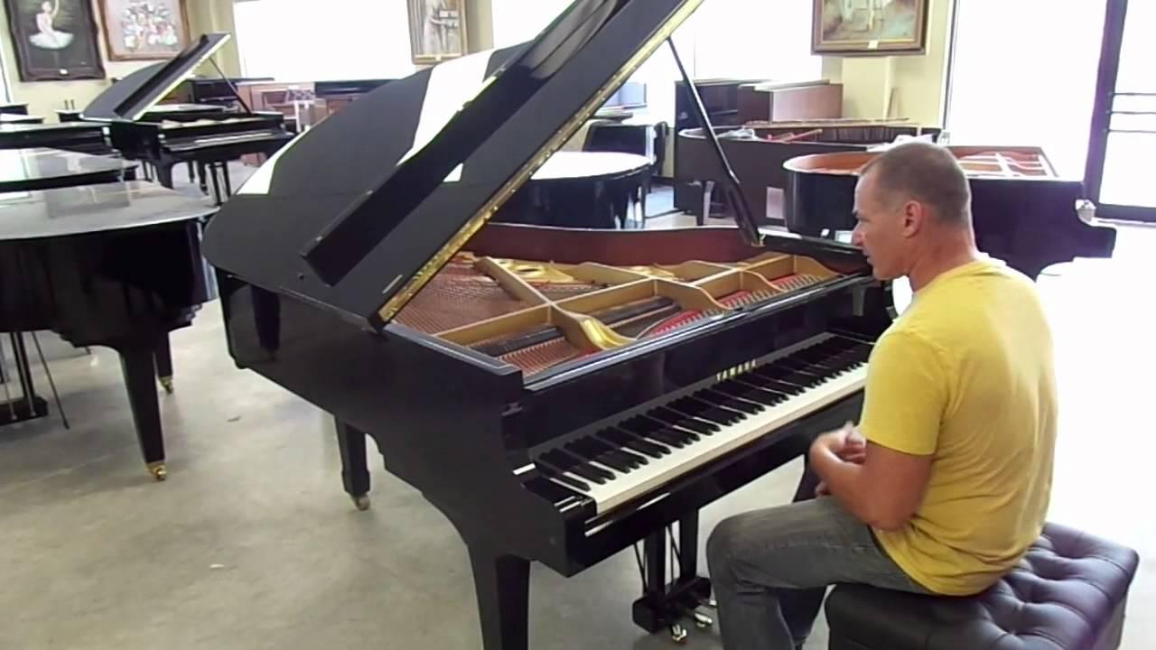Yamaha g3 grand piano youtube for Yamaha grand piano sizes