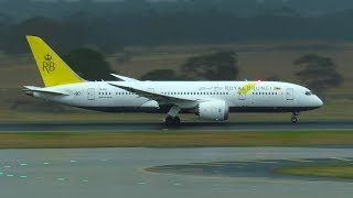 BEFORE NASTY WEATHER HITS - Royal Brunei Boeing 787-8 Departs Melbourne Airport! | V8-DLD