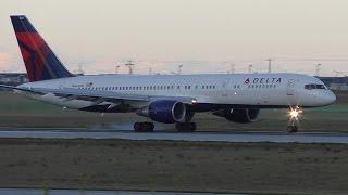 Delta (Toronto Raptors) 757-232 [N664DN] Dusk Landing at Calgary Airport ᴴᴰ