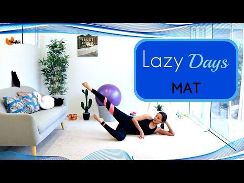 Beginners Pilates Mat Workout Lazy Girl Barlates Body Blitz Lazy Days Mat Workout