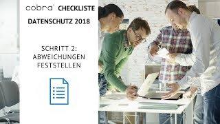 cobra Checkliste Datenschutz 2018 Schritt 2: Abweichungen feststellen