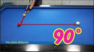 Hướng dẫn trô kéo bida phăng | Cách kéo ngang bida 90 độ