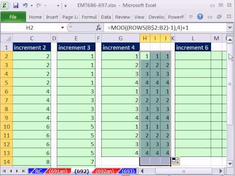 how to create auto increment number in excel