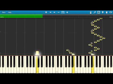 Itchy and Scratchy Theme Song - The Simpsons - Synthesia - Piano Tutorial