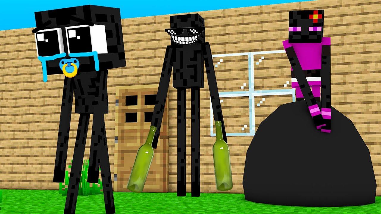 Monster School : BABY ENDERMAN BAD FAMILY CHALLENGE - Minecraft Animation