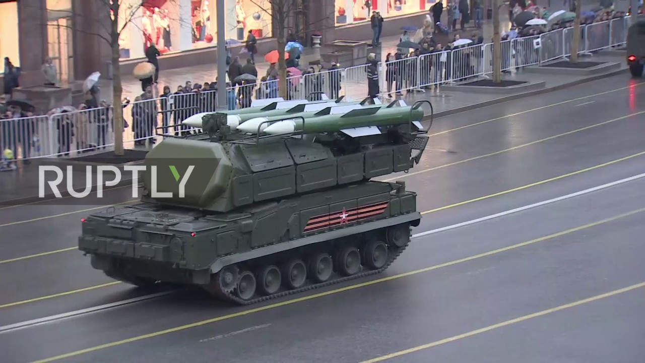 Victory Parade rehearsal and Moscow from a height
