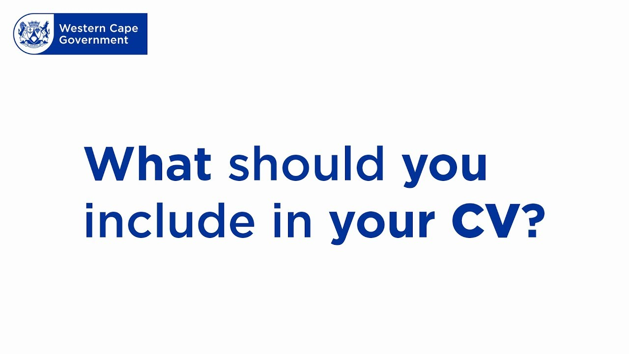 How to create a CV | Western Cape Government
