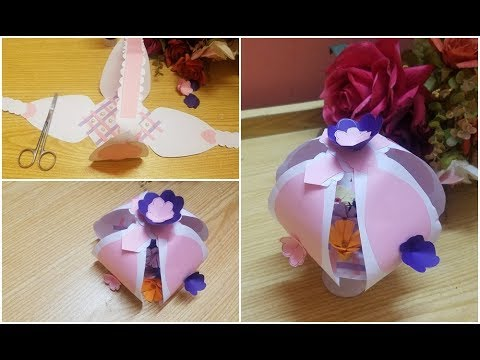 DIY make  a paper flower gift basket  for my friend